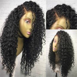 Wholesale Kinky Natural Black Hair Wigs - Malaysian Curly Wigs 7A Grade Malaysian Virgin Human Hair Glueless Kinky Curly Lace Front Wig Lacefront Wig For Black Women