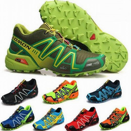 Wholesale Striped Canvas Shoes - 2017 New Zapatillas Speedcross 3 Running Shoes Men Walking Ourdoor Speed cross Sport Sneakers shoes Athletic Hiking Shoes Size Eur 40-46