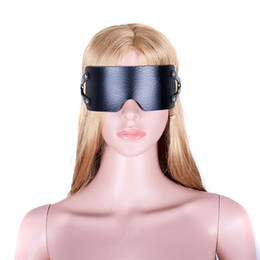 Wholesale Adult Sex Toys Leather Female - PU Leather Fetish Wear Blindfold Sexy Eye Mask Female Sex Toys For Couple Adult Games Bondage Restraints Sex Products for Woman