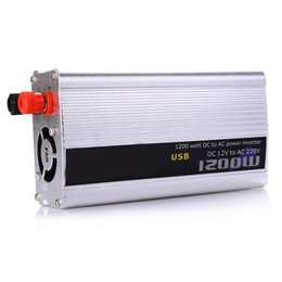 Wholesale 12v Charger Board - Wholesale- 1000W DC 12V AC 220V Car Inverter Auto Power Supply Switch On Board Charger High Converting Efficiency Safely Shuts Down