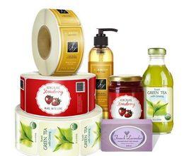 Wholesale Lamination Adhesives - China Factory Printing Customer Cosmetics Bottle Adhesive Labels, Self Adhesive Stickers CMYK Colors Gloss Lamination