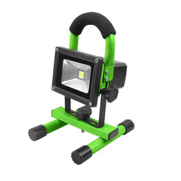Wholesale Lithium Rechargeable Battery 5v - Portable rechargeable led floodlight Green shell 18650 lithium battery outdoor emergency light high quality white color 5V work light