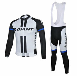 Wholesale Giant Cycling Pants - 2014 New arrive giant long sleeve jersey Cycling Suits Cycling Kit cycling jersey cycling jersey Bike Suit Road Cycling Kit bib pants