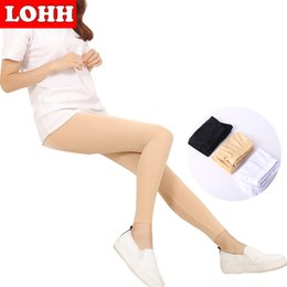 Wholesale Leggins Colors Pants - Wholesale- LOHH 2017 New Brand Women Summer Ice Silk Leggings Female Fashion New Style hot Black Pants leggins mujer 3 Colors