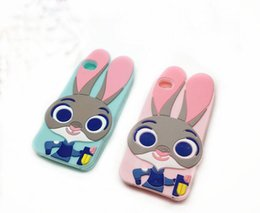 Wholesale Rabbit Iphone 4s - 3D Rabbit For iphone 7 7plus SE Cartoon Silicon cover for Iphone 4s 5 5S 6 6s plus 7 7plus mobile phone case