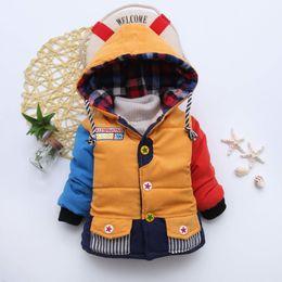 Wholesale Jackets For Infants Boys - Baby Boys Jackets 2017 Autumn Winter Jacket For Boys Infant Coat Kids Warm Cotton Outerwear Coats Children Clothes