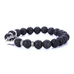 Wholesale 8mm Beads Free Shipping - Free Shipping Mix Style Made with Love Lava Stone Diffuser Jewelry Natural Volcanic Rock 8mm Charm Bracelets Prayer Men Beads Bracelet 2017