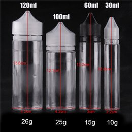Wholesale Pet Unicorn - Chubby Styles PET Bottle Needled Unicorn Bottles with Childproof Cap 30ml 60ml 100ml 120ml Transparent Temper Caps E Liquid Bottles