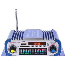 Wholesale Digital Stereo Amplifier Audio - USB FM Audio 12V LED Car Stereo Amplifier Radio MP3 Speaker Hi-Fi 2 Channel Digital Display Power Player Support CD DVD 163453201