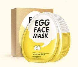 Wholesale Eggs Control - 2000PCS Bioaqua Face Care Eggs Face Mask Moisturising Hydrating Shrink Pore Brightens Whitening Oil-control Skin Care Facial Mask DHL