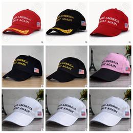 Wholesale Wholesale Trucker Snapback Hats - 7 Designs Make America Great Again Hat Donald Trump Baseball Hats Republican Adjustable Trucker Snapback Outdoor Sport Caps CCA5554 100pcs