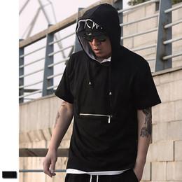 justin bieber swag noir t-shirt Promotion Plus Size 3XL Baggy Zipper Sweat À Capuche Hommes Noir Gothique Hip Hop Swag Kanye West Vêtements Justin Bieber T-shirt