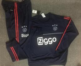 Wholesale Full Feet - TOP QUALITY 2017 2018 Ajax Football tracksuit 17 18 Netherland League Ajax Maillot de foot KLAASSEN MILIK VAN BASTEN SOCCER Training suit