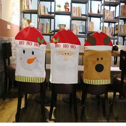 Рождественские Украшения Стола Стул Наборы Рождественских Принадлежностей Снеговик Санта-Клаус Рождественские Шляпы Украшения Стола Гостиницы Ресторан cheap hotel supplies от Поставщики гостиничные принадлежности