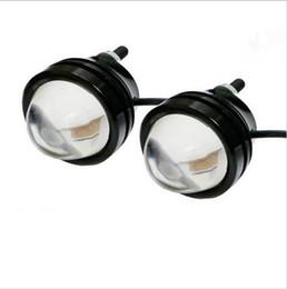 Wholesale Led Projector Fog - 4x 12V Car White 5W LED Fish Eyes Projector Fog Light DRL Daytime Running Light Turn Signal Tail Lamp Bulbs