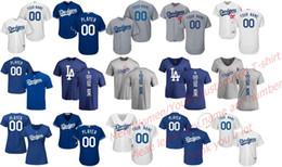 Wholesale White Short T Shirt Female - Male Female Youth Los Angeles Dodgers Stars Custom 17 Grey Blue White Home Road Alternate Cool Flex Baseball Jerseys T-shirts Backer T-shirt