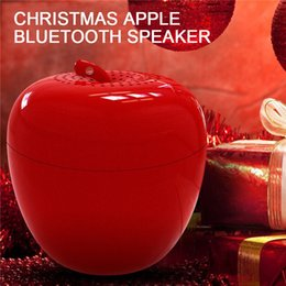 Wholesale Portable Mini Speakers Apple - Cartoon Bluetooth Speaker Creative Wireless Outdoor Mini Selfie Xtreme Merry Christmas Apple Speakers for Smart Phone