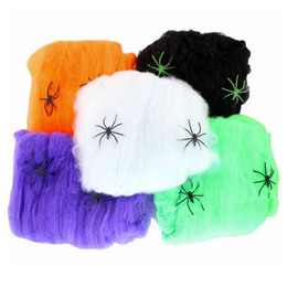 Wholesale Party Scene - Halloween Web Stretchy Scary Party Scene Props White Cobweb Spider Web Horror Halloween Decoration For Bar Haunted House