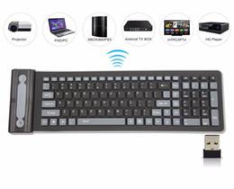 Портативный 2.4 G беспроводная Силиконовая мягкая клавиатура 107 ключ гибкая водонепроницаемый складной клавиатуры карманный резиновая клавиатура для ПК ноутбуков от