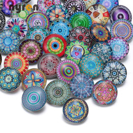 Wholesale Ruby Wholesale - 50pcs lot Fashion Mixed Colors Exotic Series 18mm Glass Snap Button Jewelry Fit Snap Bracelet Jewelry