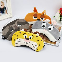 Wholesale Sleeping Aids - 1PCS Bunny Tiger Fox Sloth Sleep Mask Rest Travel Relax Sleeping Aid Blindfold Ice Cover Eye Patch Sleeping Mask Case