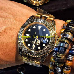Wholesale Wristwatch Automatic Vintage - High quality top business brand luxury wristwatch 116623 vintage carved stainless steel automatic mechanical mens watches relogiorelogio