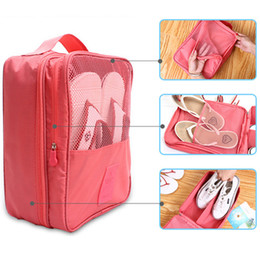 Wholesale Wholesale Fashion Shoes Bags - Fashion Chic Travel Shoes Clothes Stuff Sacks Portable Bags Three Pockets Outdoor Sport Packs Waterproof Outside Visual Toiletry Kits