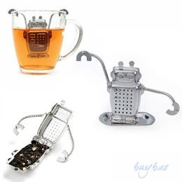 2019 bohren führen Hersteller Direkt Tee Infuser Edelstahl Niedlichen Roboter Infuser Recyclebar Tee Siebmaschinen Werkzeug