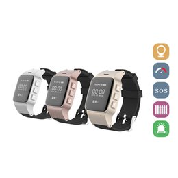 Wholesale Gps Sos Mobile - GSM GPRS LBS GPS Tracker Locator SOS Smart Watch Mobile Phone for Elder Parents