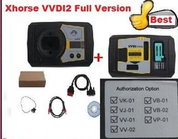 Wholesale Bmw J2534 - 2017 DHL free shiping Original Xhorse V1.2.1 VVDI2 Commander Key Programmer for VW+5th AUDI Authorization BMW OBD + CAS4 Porsche J2534