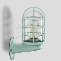 Винтажные промышленные светлые оттенки онлайн-Willlustr Iron Colour Настенный светильник для промышленного использования прозрачный стеклянный плафон Бра настенное освещение винтажный док свет дверной проем фойе крыльцо чердак верфи