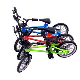 Wholesale Plastic Toy Mini Bikes - Wholesale- Mini Bycicle for Kids, Decorative Bike Model, Red Blue Green 1 24 Toy Bike Free Shipping
