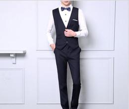 Camisa del tamaño 46 online-MarKyi 2017 nueva primavera para hombre esmoquin de boda más el tamaño 5xl chaleco trajes pieza (chaleco + camisas + pantalón) traje delgado clásico hombres.