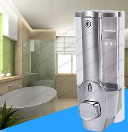 Wholesale Wholesale Shampoo Dispenser - 2017 HOT 350ml Wall Mount Shower Kitchen Single Head Soap Dispenser with a Lock ABS Plastic Liquid Shampoo Vessel for Bathroom MYY