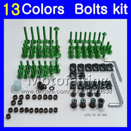 Wholesale 98 Gsxr Fairings - Fairing bolts full screw kit For SUZUKI GSXR750 96 97 98 00 GSXR600 GSXR 600 750 1996 1997 1998 2000 Body Nuts screws nut bolt kit 13Colors