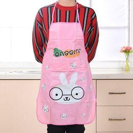 Wholesale Pvc Bust - Cartoon kitchen aprons bust PVC water pollution aprons cute anti-oil sleeveless apron kitchen accessories TT317