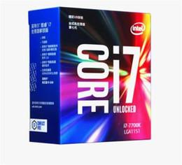 Wholesale Lga Processor Socket - 2017 Original for Intel Core i7 7700K Processor 4.20GHz  8MB Cache Quad Core  Socket LGA 1151   Quad Core  Desktop I7-7700K CPU