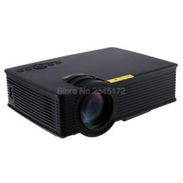 Wholesale Micro Video Projectors - Wholesale-GP-9 Mini Home Cinema Theater HD LCD Projector 2 USB 2000 Lumens 1920 x 1080 Pixels Video Micro piCo Teaching Projector