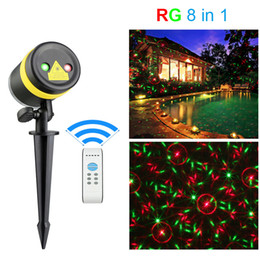 Wholesale green laser remote - Lawn Lights Illuminated Outdoor Decoration Remote Controllable RG Laser Outdoor Garden Landscape Light Red, Green laser light