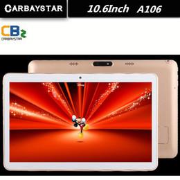 tableta 1366x768 Rebajas Venta al por mayor - CARBAYSTAR de 10,6 pulgadas Octa Core Smart Android Tablet PC 1366 * 768 IPS llamada de teléfono con pantalla Android 5.0 Tablet PC A106 10.6