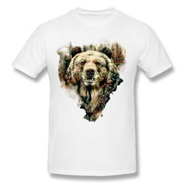 Wholesale Custom Design Tshirt - Teenage Short Sleeve Tee Shirts Design Tshirt Bear Online Homme Printed Tees Purple Simple Style O Neck Custom Group Shirts