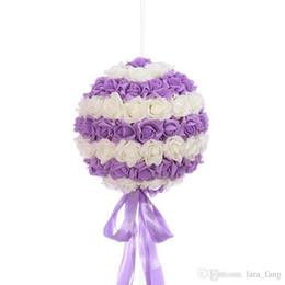Wholesale Wholesale Artificial Wreath Supplies - Placemat 20cm Festival Supplies Pure Handmade Flower Ball Beautiful Pe Artificial Roses Romantic Wedding Ceremony Ball-flower Decoration