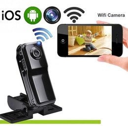 Wholesale Outdoor Ip Camera Record - WiFi Mini Camera Camcorder IP P2P Mini DV Wireless Camera Security Record Camcorder Video Surveillance Webcam Android iOS