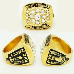 Wholesale Boston Ring - Class Sports Jewelry Fashion Stanley Cup 1972 Boston Bruins B ORR Player Championship Ring Replica Size 11