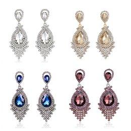 Wholesale Hot Items Europe - Charm Pendant Earrings Acrylic Alloy Diamond Pendant Earrings Latest Europe and US Fashion Alloy Jewelry Ball Engagement Wedding Hot Items