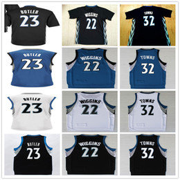 Wholesale Free Fast Shipping Cheap Mens Jimmy Butler Jersey White Green Black Andrew Wiggins Karl Anthony Towns Basketball Jerseys