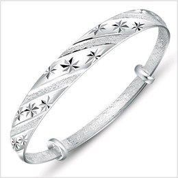 2019 diseño de brazaletes de imitación 11 diseños orden de la mezcla coreana ajustable ducha de estrellas para siempre amor imitación 999 brazalete de plata brazalete de la joyería de moda para mujer diseño de brazaletes de imitación baratos