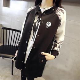 Wholesale Exo K - Wholesale- EXO KPOP Baseball Jacket Long-sleeved 2016 k-pop exo early autumn students should aid baseball uniform EXO Clothing