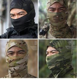 Wholesale Motorcycle Face Covering Mask - Multicam Balaclava Tactical Airsoft Hunting Outdoor Protection Neck Cap Hat Cover Military Motorcycle Ski Cycling Full Face Mask