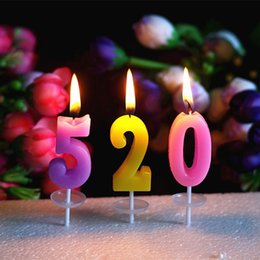 Wholesale Happy Birthday Candles Wholesale - Birthday Digital candles Color independent packaging festivals and Party supplies Creative Birthday Happy Candle wholesale and retail